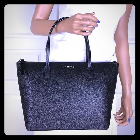 Kate Spade ♠️ black shimmer sparkle purse